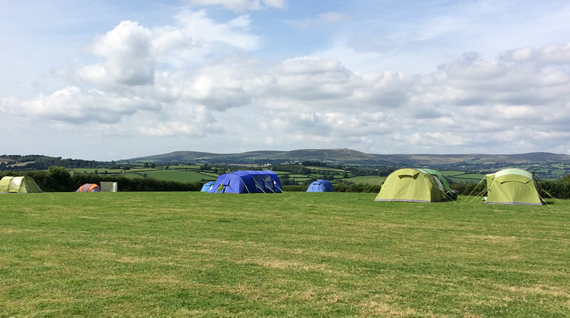 Campsite near Kingsbridge in the South Hams
