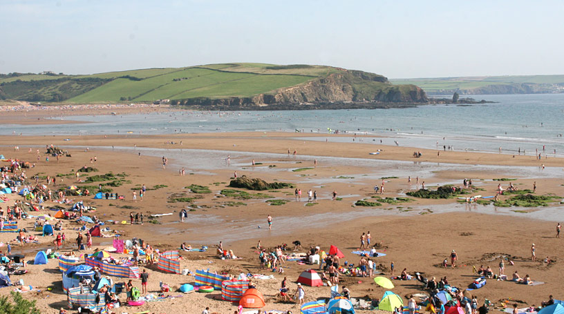 Challaborough Beach near Bigbury Bay in Devon