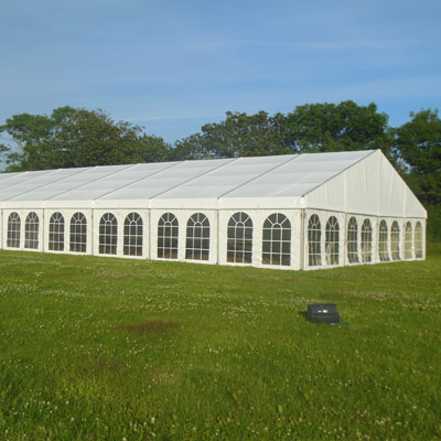 Large marquee hired for a function at Holsome Park