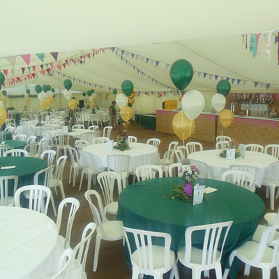 Photo of a funntion held in a marquee at Holsome Park